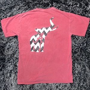Alabama Chevron print elephant T-shirt.